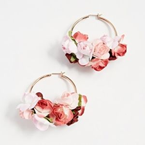 Jewelry - SHASHI Ivy Floral Gold Hoop Earrings NEW!